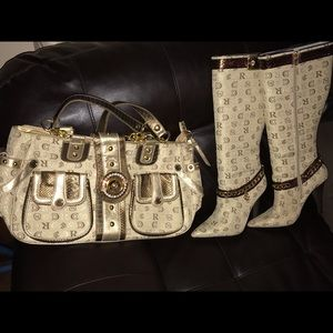 Purse and matching boots